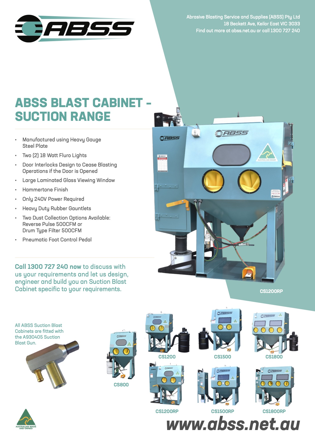 191121 ABSS Brochures A4 Blast Cabinet SUCTION COLLECTION V1 copy