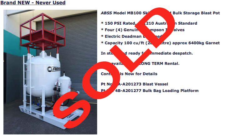 SOLD MB100 Rental